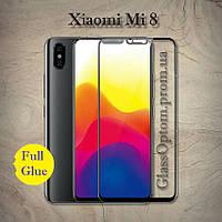 Защитное стекло 2.5D на весь экран (с клеем по всей поверхности) для Xiaomi Mi8 цвет Черный