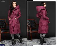 Женская зимнее теплое пальто (синтепон 200) есть большие размеры