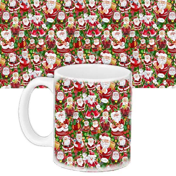 Чашка Moderika белая с рисунком  Деды Морозы (33395)