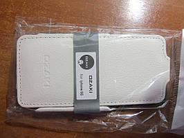 Шкіряний чохол Ozaki для iPhone 5G white