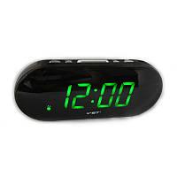 Часы электронные vst-717-2 Green, настольные, сетевые, красный led-дисплей, будильник с отсрочкой сигнала, фото 1