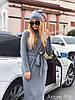 Стильное женское платье с шапкой (ангора арктика, прямой крой, длина миди, пояс, длинные рукава) РАЗНЫЕ ЦВЕТА!