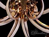 Светодиодная люстра в золотом цвете MX9700/6G dimmer, фото 2