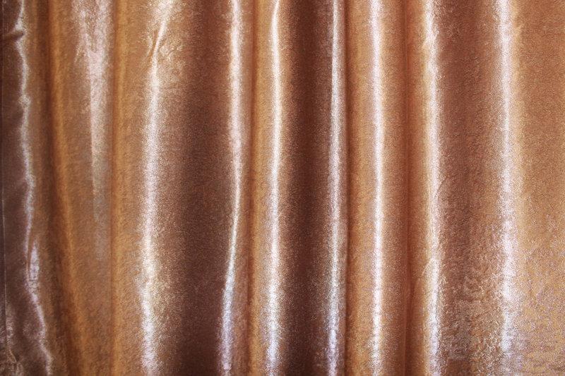 Шторная ткань блекаут-софт, с атласной основой. Высота 2,8м. Цвет коричневый. Код 095ш