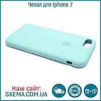 Чехол-накладка для Iphone 7 силиконовый Silk Silicone Aque, фото 1