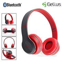 Bluetooth наушники беспроводные Gelius Crossfire P47 (microSD, FM, HF) Красный, фото 1