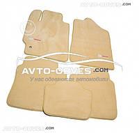 Коврики для Тойота Камри 2006-2012 Бежевые Премиум || материал - ворс