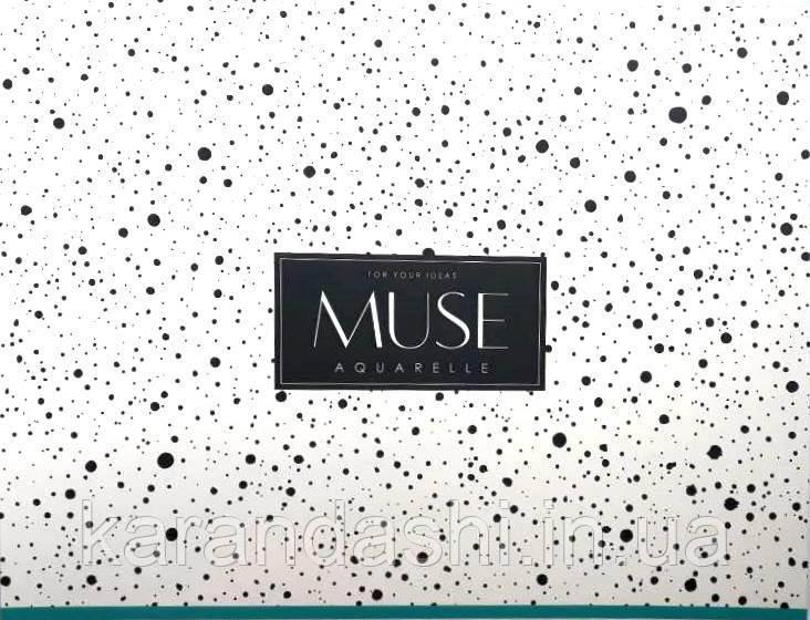 """Альбом Aquarelle """"MUSE"""" 240*314 мм, 15 листов, плотность 240 гр/кв.м, склейка Целлюлоза. PB-GB-015-018"""