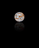 Золотой Кулон Шарик узор без кольца (0,3)