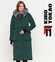 Куртка удлиненная зимняя женская Киро Токао - 1808 зеленая