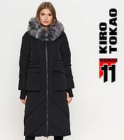Куртка удлиненная зимняя женская Киро Токао - 1808U черная