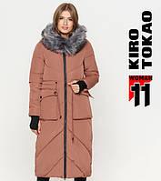 Куртка удлиненная зимняя женская Kiro Tokao - 1808 какао