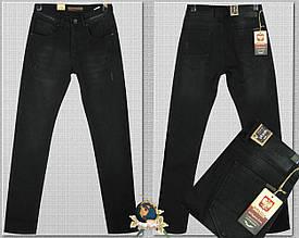 Джинсы мужские утеплённые зауженные чёрные Corcix 30 размер