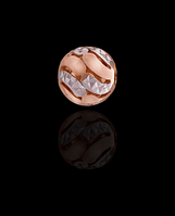 Золотой Кулон Шарик узор без кольца (0,6)
