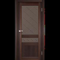 Двери Корфад Cl-05 орех. броза стекло