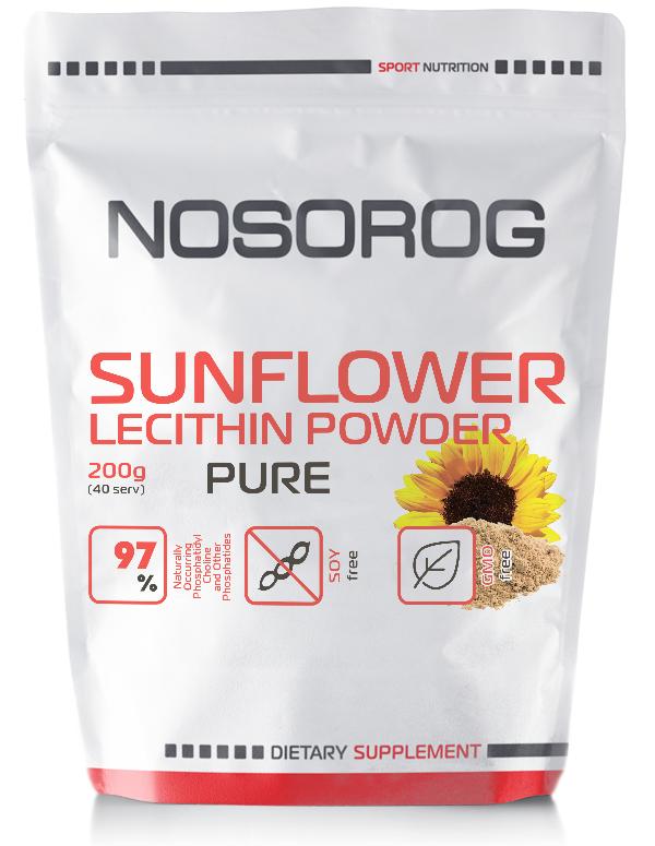 Лецитин подсолнечника в порошке NOSOROG Nutrition Sunflower Lecithin 200 g