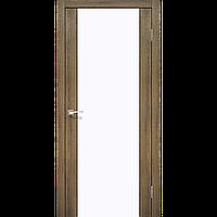 Двери Корфад SR-01 браш, скло тріплекс білий