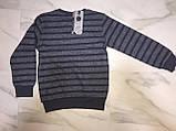 Детский свитер BLUELAND, полоска, серый, фото 2