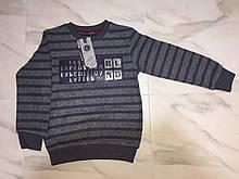 Детский свитер BLUELAND, полоска, серый