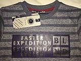 Детский свитер BLUELAND, полоска, серый, фото 6