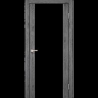 Двери Корфад SR-01 марсала, скло тріплекс чорний