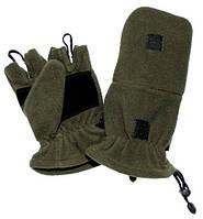 Тактические перчатки беспалые с клапаном MFH