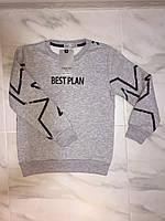 Детский свитер (батник, толстовка) TOОNTOY, серый