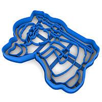 Вырубка для пряников Дед Мороз 11*8,1 см (3D)