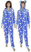 NEW! Женские махровые пижамы кигуруми Gulliver Мишки ТМ УКРТРИКОТАЖ!
