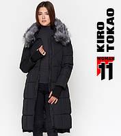 Куртка удлиненная женская зимняя Киро Токао - 18013N черная