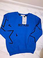 Детский свитер (батник, толстовка) TOОNTOY, синий 110