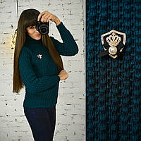 """Модный женский свитерок """"Герда"""", изумруд , фото 1"""