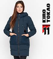 Куртка удлиненная зимняя женская Kiro Tokao - 8180A темно-бирюзовая