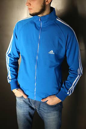 Кофта мужская Adidas. Синяя, фото 2