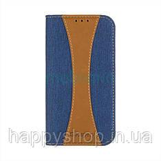 Чехол-книжка Goospery Canvas для Samsung Galaxy J4 2018 (J400) Blue