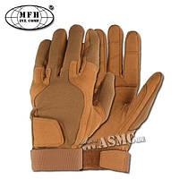 Тактические перчатки MFH Stripes Койот