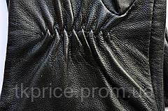 Женские кожаные перчатки с нейлоновой подкладкой удлиненные, фото 3