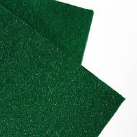 Фетр 2 мм с глиттером зеленый 22,9*30,5 см