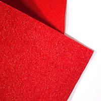Фетр 2 мм с глиттером красный 22,9*30,5 см