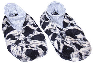 Тапочки - ботиночки детские домашние махровые 18205 Леопард длина подошвы 24 см