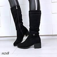 Женские сапожки зимние на каблуке, фото 1
