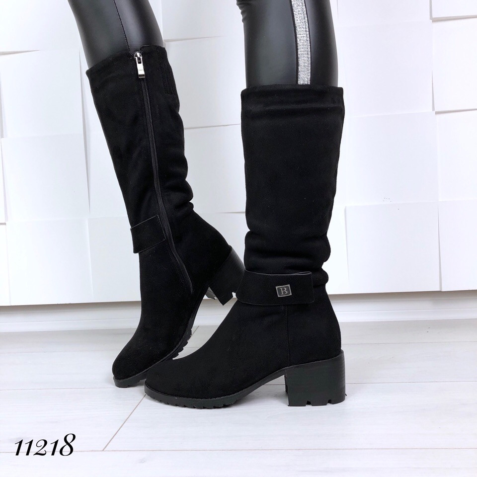 Женские сапожки зимние на каблуке