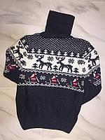 Детский свитер под горло зимнийна мальчика турецкой фирмы RAIN (с оленями)