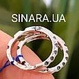 Мужские серебряные серьги кольца - Мужская серьга кольцо (пара), фото 3
