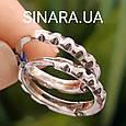 Мужские серебряные серьги кольца - Мужская серьга кольцо (пара), фото 2