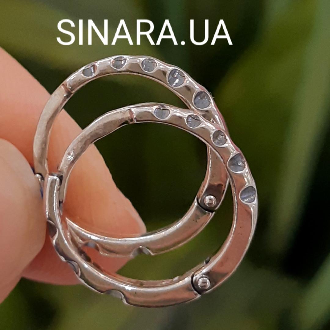 Мужские серебряные серьги кольца - Мужская серьга кольцо (пара)