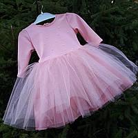 """Пышное платье """" Персик"""" ( размеры от 86 до 122), фото 1"""
