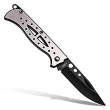Карманный складной нож из нержавеющей стали - серебристый и черный CTSmart 2001