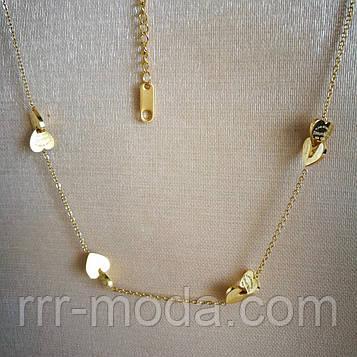 Цепочки с сердечками оптом. Бренды - Брендовые женские украшения. 412