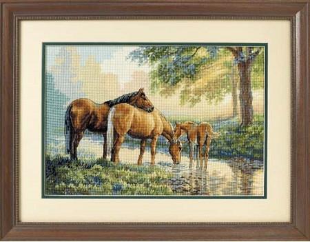 Набор для вышивания DIMENSIONS 35174 Лошади у источника